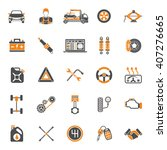 car service two color icons set ... | Shutterstock .eps vector #407276665