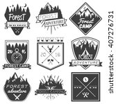 vector set of forest camp... | Shutterstock .eps vector #407276731