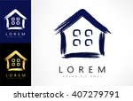 Stock vector house logo vector 407279791