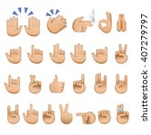 set of hands icons and symbols  ... | Shutterstock .eps vector #407279797
