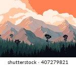 horizontal illustration... | Shutterstock .eps vector #407279821