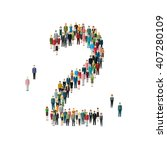 numbers made of people. large... | Shutterstock .eps vector #407280109