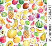 seamless pattern with hand... | Shutterstock . vector #407281957