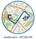 map location scheme | Shutterstock .eps vector #407283769