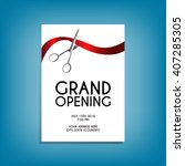 grand opening flyer mock up... | Shutterstock .eps vector #407285305