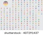 world flag illustrations in the ... | Shutterstock .eps vector #407291437