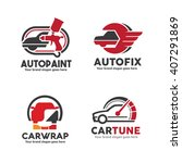 car service logo set including... | Shutterstock .eps vector #407291869