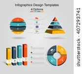 set of infographics design... | Shutterstock .eps vector #407293741