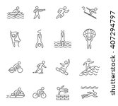 outline icons for extreme... | Shutterstock . vector #407294797