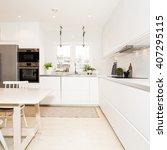 modern kitchen interior | Shutterstock . vector #407295115