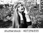 Beautiful Bohemian Girl In...