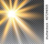 vector transparent sunlight... | Shutterstock .eps vector #407298505