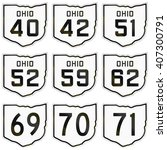 collection of historic ohio... | Shutterstock . vector #407300791
