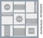 modern vector templates for...   Shutterstock .eps vector #407301055