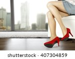 red heels  | Shutterstock . vector #407304859