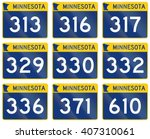 collection of minnesota route...   Shutterstock . vector #407310061