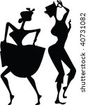 two dancers black silhouette... | Shutterstock . vector #40731082