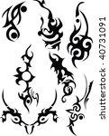 tribals black isolated on white ...   Shutterstock . vector #40731091