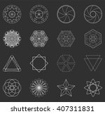 abstract geometric shapes ... | Shutterstock . vector #407311831