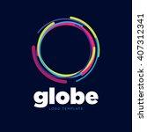 network logo. global logo.... | Shutterstock .eps vector #407312341