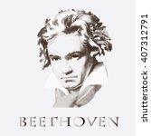 composer ludwig van beethoven.... | Shutterstock .eps vector #407312791