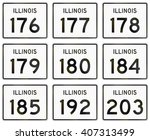 collection of illinois route... | Shutterstock . vector #407313499