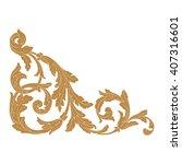 premium gold vintage baroque... | Shutterstock .eps vector #407316601