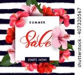 summer sale concept. summer... | Shutterstock .eps vector #407320567