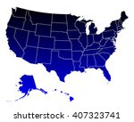 map of usa | Shutterstock .eps vector #407323741