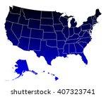 map of usa | Shutterstock .eps vector #407323741
