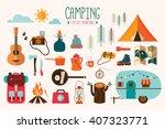 camping equipment vector... | Shutterstock .eps vector #407323771