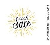summer sale with firework... | Shutterstock .eps vector #407324245