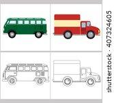 series vector colorings... | Shutterstock .eps vector #407324605