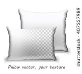 white cushion  vector image ... | Shutterstock .eps vector #407327989