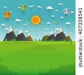 flat design nature landscape... | Shutterstock .eps vector #407328541