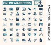 online marketing icons    Shutterstock .eps vector #407329429