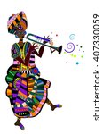female actress in the ethnic... | Shutterstock . vector #407330059