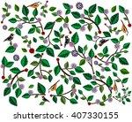 spring  summer  the background... | Shutterstock . vector #407330155