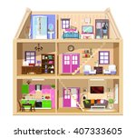 Detailed Colorful Home Interio...