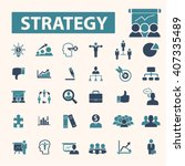 strategy icons  | Shutterstock .eps vector #407335489