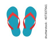 beach slippers icon   vector | Shutterstock .eps vector #407337061