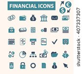financial icons    Shutterstock .eps vector #407337307