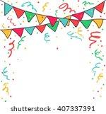 happy birthday   vector card ... | Shutterstock .eps vector #407337391