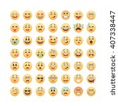 set of emoticons  emoji... | Shutterstock .eps vector #407338447