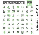 organization icons  | Shutterstock .eps vector #407339941
