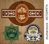 vector vintage items  label art ...   Shutterstock .eps vector #407339974