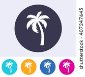 vector single palm tree icon on ...   Shutterstock .eps vector #407347645