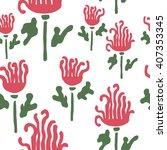 vector flower pattern.... | Shutterstock .eps vector #407353345