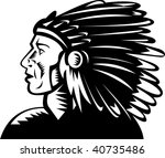 illustration of a native... | Shutterstock . vector #40735486