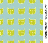 seamless cute pattern with... | Shutterstock .eps vector #407356099